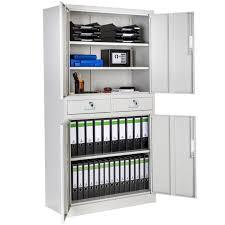 bureau rangement armoire de bureau de rangement acier 2 compartiments 2 tiroirs