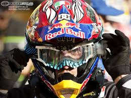 rockstar energy motocross helmet 2010 supercross anaheim 1 photos motorcycle usa