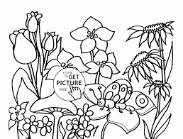 flowers spring coloring page for kids seasons coloring pages