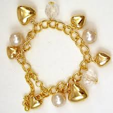 gold bracelet with pearl charm images Charm bracelets fashion jewellery wholesale western counties jpg