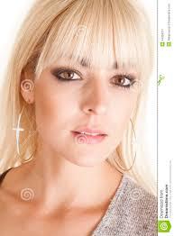earrings for big earlobes woman hoop earrings cross stock image image of light 44359217