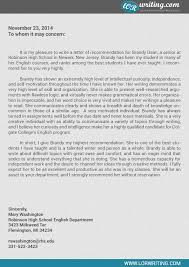 recommendation letter for college template best business template