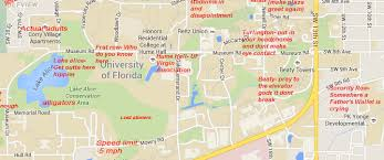 University Of Miami Map by A Judgmental Map Of Gainesville Floridathe Black Sheep