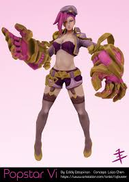 cybuster popstar vi league of legends u2014 polycount