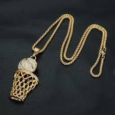 rhinestone pendant necklace images Full rhinestone men basketball pendants necklaces jpg