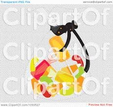 halloween transparent background clipart clipart bag of halloween candy royalty free vector illustration