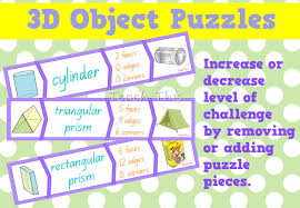 3d objects puzzles fun printable classroom games and activities