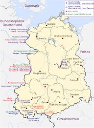 Eastern Europe Map Central Eastern Europe Map To Of East And West Germany With Cities