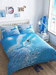 Surfing Bedding Sets Surfer Photographic King Quilt Duvet Cover 2 P Wave