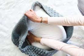 free crochet pouf pattern modern textured economical