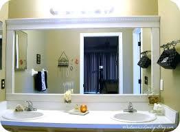 large framed bathroom mirrors white framed bathroom mirror contentbuilder site