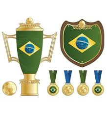 brazil flag ornaments royalty free vector image