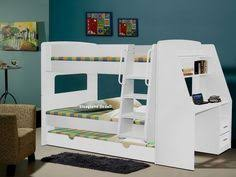 Buy Detachable Single Bunk Bed Frame With Trundle White At Argos - Trundle bunk bed with desk