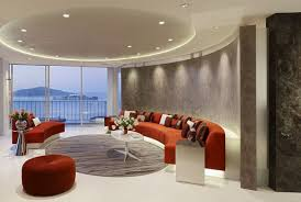 living room futuristic large apartment inside design nice white