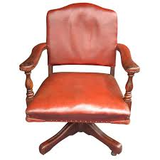 Leather Office Armchair Stylish Red Leather Office Chair Elegant Furniture Design