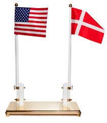 Dansk Flag Flagstang Med To Flag Dansk Og Manuelt Indtastet