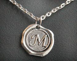 monogrammed pendant necklace personalized mothers day gift jewelry initial necklace