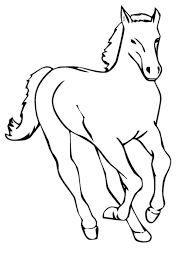 printable realistic horse coloring pages jumping cowboy kids horse