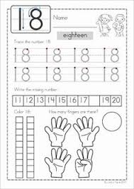 number concepts 1 20 a fun set of worksheets to help teach early