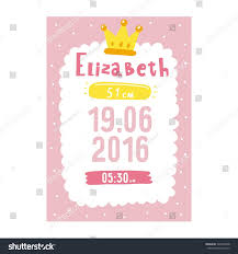 baby shower poster baby shower poster newborn metric children stock vector 520342828