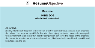 Administrative Assistant Resume Objectives Top Tips On Administrative Assistant Resume Objective Resume Title