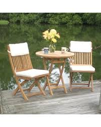 Folding Patio Bistro Set Huge Deal On Outdoor Royal Teak Sailor Patio Bistro Set