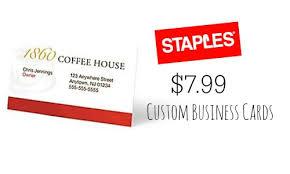 staple business cards staples deal 500 custom business cards 799