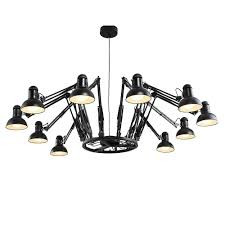 Chandelier With Black Shades Cult Living Spider Adjustable Arm Chandelier With Shades Cult Uk
