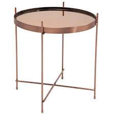 Copper Side Table In The Must Have Metal Of The Moment Copper The Modular Side