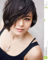 haircut photos freckles japanese girl with freckles stock photo image 42912092
