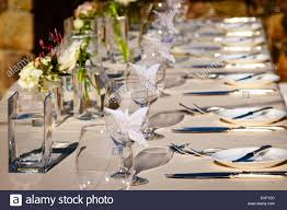Formal Dining Table Setting Formal Dining Table Setting For A Wedding Dinner Celebration Stock
