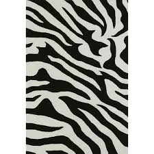 Zebra Area Rug 8x10 Malia Animal Print Black White Zebra Area Rug 8 X10