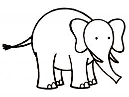 simple drawing of elephant simple elephant outline clipartsco