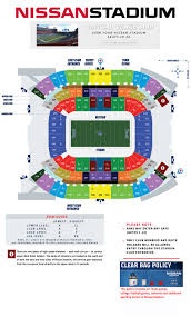 stadium floor plan tennessee titans nissan stadium seating chart