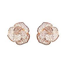 flower stud earrings everu fashion jewelry gold flower stud earrings