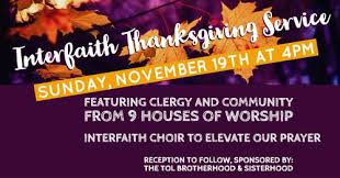 interfaith thanksgiving service event tree of congregation