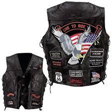 jersey motocross murah diamond plate rock design genuine buffalo leather eagle biker vest
