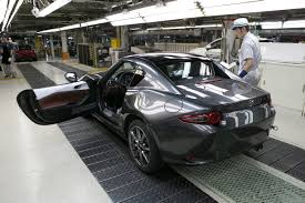 mazda mx5 mazda starts production of the 2017 mx 5 miata rf inside mazda
