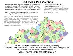 kentucky geologic map information service earth science resources available to kentucky teachers kentucky