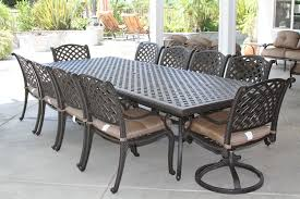 nassau 11pc outdoor patio dining set with 46 x 120 table series
