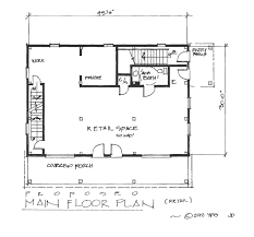 Barns With Apartments Floor Plans A Carriage House Plan For Retail And Residence American Post U0026 Beam
