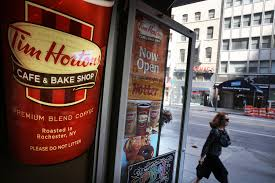 tim hortons closes 21 locations without reportedly telling employees