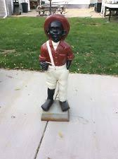 cast iron lawn jockey ebay