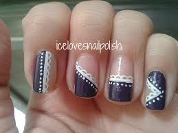 day 6 of the 31 day nail art challenge violet nails