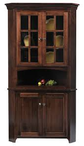 Dining Room Corner Hutch Cabinet Traditional White Corner Hutch For Dining Room Plan 0