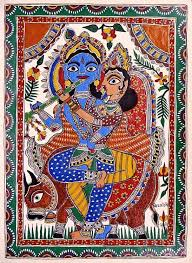 57 best radha krishna paintings from india images on folk paintings of india