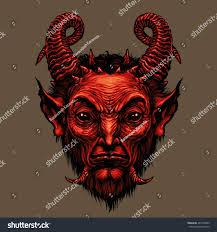 devil spirit halloween devil head satire satan halloween monster stock illustration