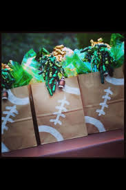 football favors football favor bags and guess who is in charge of food for the