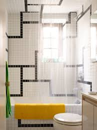 a bathroom tile design idea for pattern on a budget
