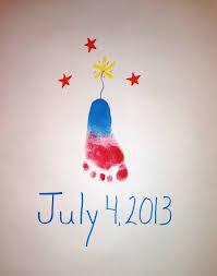 footprint firecracker kids handprint u0026 footprint crafts